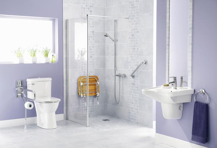 handicap bathroom and walk-in shower