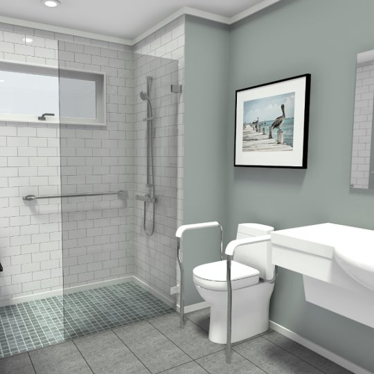 handicap remodeling contractors bathroom